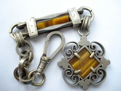 Vintage Watch Fob Tigers Eye1920's1930's by jemimajay on Etsy