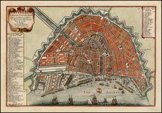 Amsterdam, The Netherlands, Fameux Port de Mer 1705 - Barry Lawrence Ruderman Antique Maps Inc.