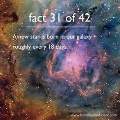 Resultado de imagem para 42 facts about space