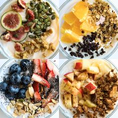 Kickstart your morning with a breakfast packed with protein, whole grains, and fresh fruit! Prep your Greek yogurt breakfast bowls ahead of time for an easy grab and go in the AM. and Drink breakfast greek yogurt Greek Yogurt Breakfast Bowls Greek Yogurt Breakfast, Breakfast Bowls, Fruit For Breakfast, Greek Yogurt Oatmeal, Power Breakfast, Detox Breakfast, Breakfast Sandwiches, Breakfast Pizza, Breakfast Ideas