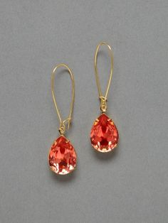 Classy and major bling - #coral drop earrings. #SephoraColorWash