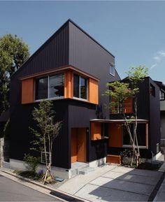 Modern Home Design Villa Design, Modern House Design, Modern Houses, Dream House Plans, My Dream Home, Modern Entrance Door, Modern Townhouse, Japanese House, Facade House