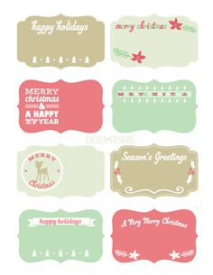 Free download Holiday Labels and Tags by Falala Designs.
