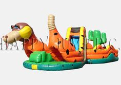 """The Snake is our newest """"Figure 8"""" obstacle course.  It is a design like no other, and your customers will love it''s unique challenges and style.  With its single entry/exit point, it''s also perfect for Indoor Fun Centers."""