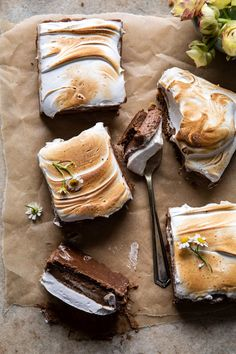 S'mores Chocolate Mousse Bars | halfbakedharvest.com #smores #dessert #chocolate #summerrecipes