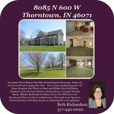 https://www.youtube.com/watch?v=rG9lPcnlJLg #GoodToKnow #BerkshireHathaway #IndianaRealty #Thorntown #Indiana #RealEstate #Country #BethRichardson