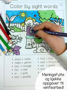 Meningsfylte og kjekke oppgaver til ventearbeid. Gratis nedlasting av 10 engelske ark, egnet for hele barnetrinnet! Esl Learning, Teaching Reading, Teaching Math, Learning Activities, Elementary Teacher, Elementary Education, Upper Elementary, Cvc Words, Sight Words