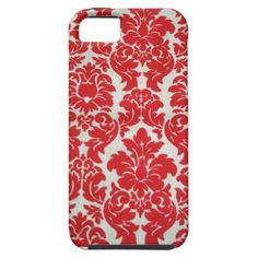 iPhone 5 case - Red Damask