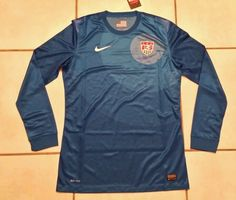 NWT Authentic NIKE  USA National Team BLUE Goalkeeper Soccer Jersey Men's Large  #Nike #USA
