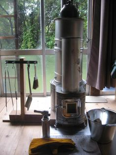 Rocket Heater, Rocket Stoves, Stove Oven, Heat Exchanger, Cabins, Diy And Crafts, Home Appliances, Fire, Wood
