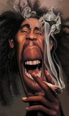 The Rastafarian man ya man 🎼Bob Marley🎼 Musician Cartoons and Caricatures - Gallery Cartoon Faces, Funny Faces, Cartoon Art, Bob Marley, Funny Caricatures, Celebrity Caricatures, Jimi Hendricks, Caricature Drawing, Wow Art