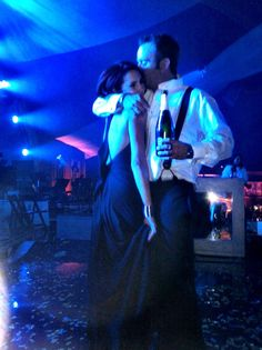Love & Champagne  Seth MacFarlane post-Oscar party with my amazing date dancing center stage after the band left!