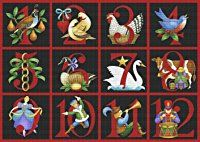 Art Needlepoint Twelve Days of Christmas Needlepoint Canvas by Stephanie Stouffer