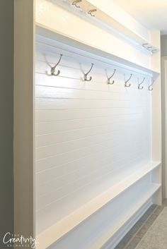 Best Ideas For Narrow Closet Organization Diy Hallways Home, Narrow Closet Organization, Foyer Decorating, Narrow Laundry Room, Narrow Closet, Hallway Storage, Hallway Ideas Entrance Narrow, Narrow Pantry, Diy Entryway