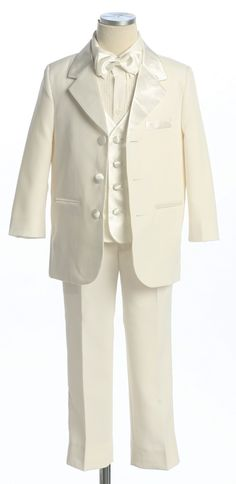 Boys Ivory Formal Tuxedos with Matching Vest