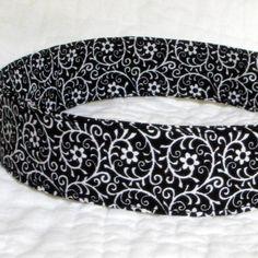 Classic Black & White Fabric Headband  Black by NewEnglandQuilter, $8.00
