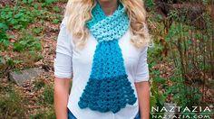 DIY Tutorial - Crochet Mermaid Tail Scarf - Lace Shell Stitch Lacy Scarf...