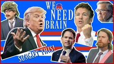 We Need Brain: Songify the G. What a Republican debate looks like, music video version. Campain Posters, We Need, Donald Trump, Music Videos, Brain, Politics, America, Let It Be