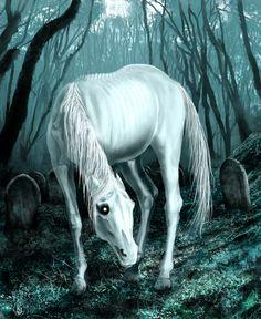 """Helhest era un caballo de tres patas asociado con el reino de los muertos y cabalgado por Hela la diosa de este reino. Helhest anunciaba la enfermedad, los accidentes y sobre todo los decesos. Podía también tratarse del fantasma de un caballo enterrado vivo bajo los cementerios siguiendo una antigua tradición, con el propósito de que regrese a guiar a los muertos. La leyenda sostiene que toda persona que vea al Helhest está a punto de """"cerrar los ojos e irse"""", es decir, de morir"""