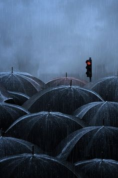 Rush Hour in The Rain by Caras Ionut