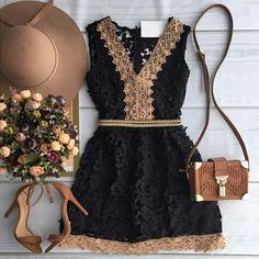 2015 moda outono nova mulher a - linha vestido elegante black lace vestido sem mangas casuais com decote em v tanque mini vestidos Loja Online | aliexpress móvel