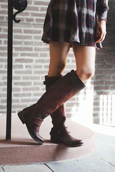Freebird by Steven Redbank Tall Boot #FreePeople #Freebird #TallBoot #boots #leather #rust #footwear #women #girl #boho #bohemian #fashion #style