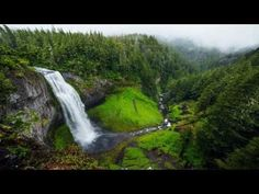 Guided Sleep Meditation with Gentle Nature Sounds: white noise Waterfall (into the forest) - YouTube