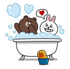 Yes it's finally happened! Brown & Cony are secretly dating! These stickers are a must have for every lovey-dovey couple! - includes a lot of hugs & kisses. Cute Couple Cartoon, Cute Love Cartoons, Cute Love Pictures, Cute Love Gif, Cony Brown, Brown Bear, Line Cony, Bear Gif, Chibi Cat