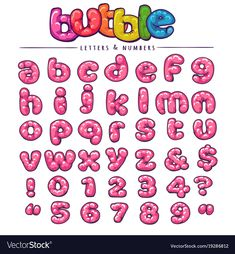 Bubble gum font design sweet abc letters and Vector Image Font Bubble, Bubble Letters, Bubble Gum, Doodle Lettering, Graffiti Lettering, Monogram Stencil, Letter Vector, Graphic Design Typography, Letters And Numbers