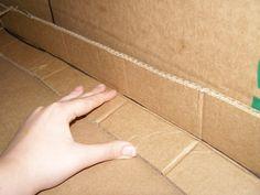 cardboard building techniques