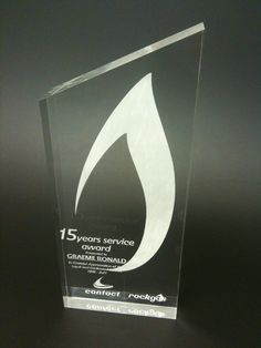 Custom Laser Etched Acrylic Trophy