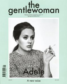 "Adele on the cover of ""the gentlewoman"" magazine, Spring/Summer 2011."