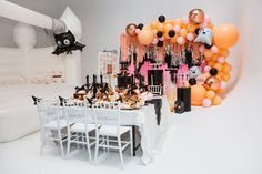 Ghouls Squad Kids Halloween Party Ideas Halloween Fairy, Halloween News, Halloween Stuff, Halloween Party Supplies, Halloween Food For Party, Birthday Party Favors, Birthday Parties, 3rd Birthday, Balloon Tassel