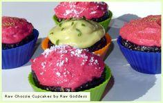 Raw cupcakes  http://www.sweetlyraw.com/2007/10/raw-choccie-cupcakes-anyone.html