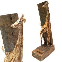 klein kunstobject.Giraf van MamaMuis op Etsy, €15.00
