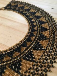 Collar vintage hecha a mano Collar de cuentas americano nativo Fringe Necklace, Collar Necklace, Beaded Necklace Patterns, Beaded Bracelets, Boho Jewelry, Handmade Jewelry, Beaded Collar, Native American Beading, African Jewelry