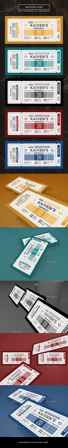 Invitation Ticket — Photoshop PSD #simple #events • Available here → https://graphicriver.net/item/invitation-ticket/19236811?ref=pxcr