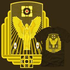 portal 2 art deco advertisation shirt