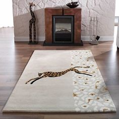 Kalahari Zebra Rugs in Black and Red - Free UK Delivery - The Rug Seller