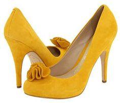 Yellow bridal shoes...