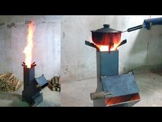 可調式汽門火箭爐 - Rocket stove air flow design. - YouTube