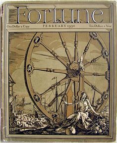 Found Tarot Art: Fortune Magazine Cover February 1930... cool depiction of Wheel of Fortune.