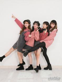 마리쉬♥패션 트렌드북! Ulzzang Fashion, Ulzzang Girl, Korea Fashion, Asian Fashion, Matching Outfits, Cute Outfits, Friendship Photoshoot, Pink Fashion, Fashion Outfits