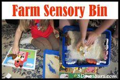 Farm Sensory Bin  & Counting - 3Dinosaurs.com