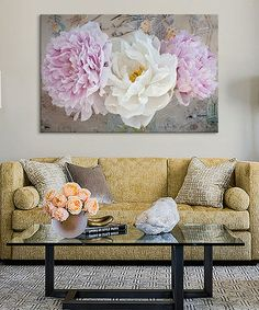 Look what I found on #zulily! Romantic Flowers Canvas #zulilyfinds