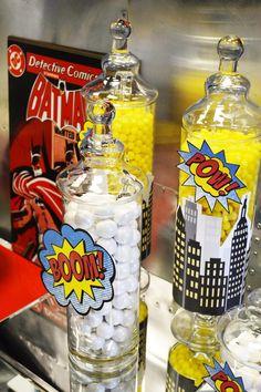 Batman Vs Superman Candy Table