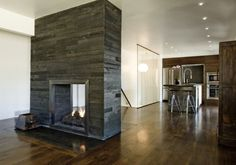 love the fireplace in the center of the room!