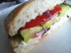 California Grilled Veggie Sandwich - another great recipe on rantingchef.com