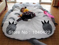 Free Shipping Giant Cartoon Sleeping Mattress Totoro Bean Bag mattress Sofa Cushion For Chirldren Gift Christmas Gift US $288.00