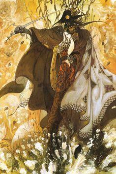 """Yoshitaka Amano ~ Miks' Pics """"Artsy Fartsy lll"""" board @ http://www.pinterest.com/msmgish/artsy-fartsy-lll/"""